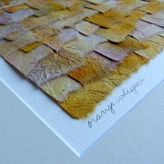 Torn Paper Collage Art In Hand Painted Watercolor by JohnElice on Etsy