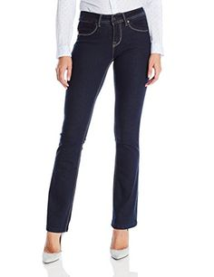 3e36d8a615 Lola Jeans Womens Lauren 9 Inch Mid Rise Boot Cut Jeans with Zipper Fly  Rinse Blue