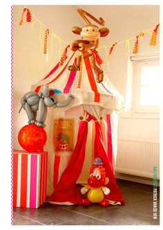 circus themed party-would be fun to have balloon animals!