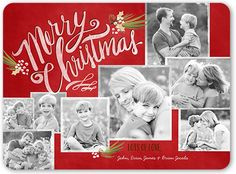 Frosted Frames 6x8 Stationery Card by Petite Lemon