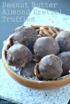 Peanut Butter Almond Pretzel Truffles
