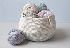 DIY Stitched Rope Basket