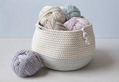 DIY Stitched Rope Basket