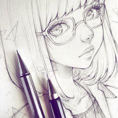 Glasses by Ladowska.deviantart.com on @DeviantArt