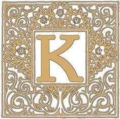 Alphabet+Letter+K+Topiary+Gold+Digital+Download+by+xoxoLoveLetters,+$1.00
