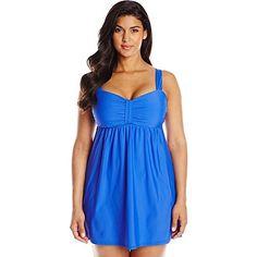 ATHENA Plus-Size Finesse Underwire Swim Dress