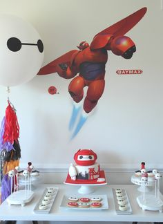 big hero 6 party dessert table