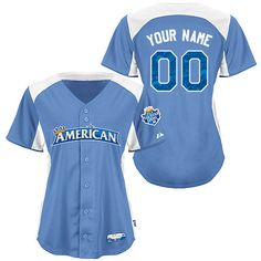 All-Star 2012 American League Women's Personalized Cool Base BP Jersey by Majestic Athletic
