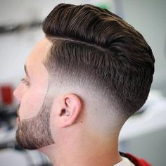 Comb Over with Bald Fade and Part - Low Fade Haircut