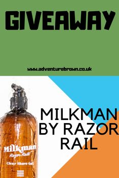 My first giveaway of the year and I have for you a men's grooming clear shave gel from milkman. I have been given 5 bottles to giveaway so come and check it out Shave Gel, Giveaways, Shaving, Bottles, Moisturizer, Adventure, Brown, Check