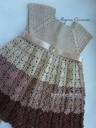 Image result for vestidos de nina tejidos a gancho