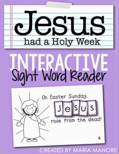 "Integrate Religion and Language Arts with the emergent reader ""Jesus had a Holy Week"", a freebie for a Catholic/Christian or homeschool kindergarten class. Holy Week Activities, Bible Activities, Easter Activities, Reading Activities, Teaching Reading, Learning, Preschool Bible, Homeschool Kindergarten, Kindergarten Class"