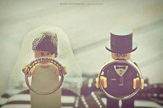Lego Wedding Ring Holders - SOOooo darn Cute!