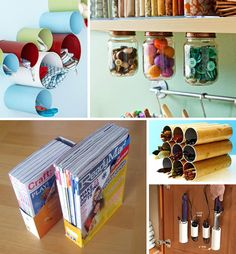 Love the cereal box magazine organizer!