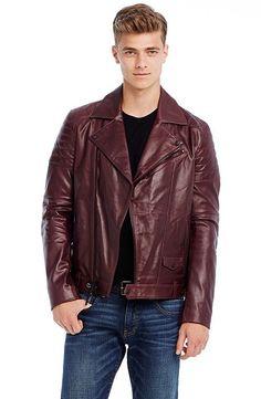 Leather Moto Jacket - Outerwear & Jackets - Mens - Armani Exchange