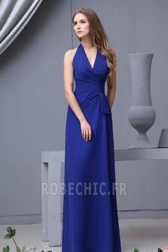 Robe Demoiselle d'Honneur Traîne Courte Petites Tailles Bleu foncé - Page 2