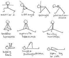 8 best stick figure movement  poses images  yoga stick