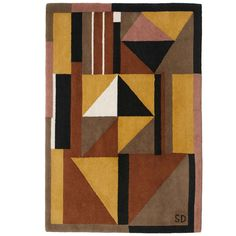 A Rare Sonia Delaunay Designed Art Deco Motif Rug, 1983 edition | From a unique collection of antique and modern western european rugs at http://www.1stdibs.com/furniture/rugs-carpets/western-european-rugs/