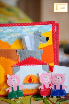 3 Little Pigs houses/garden page adjacent