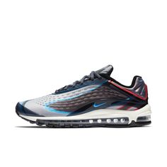 The Nike Air Max Deluxe Men's Shoe features lightweight Max Air cushioning for all-day comfort while a combination construction provides comfortable support. Nike Snkrs, Nike Men, Nike Air Max Command, Discount Shoes Online, Air Max Sneakers, Sneakers Nike, Baskets Nike, Photo Blue, Air Max 97