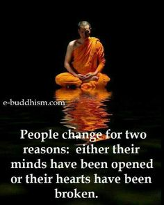 In my case, the broken heart led to the opening of my mind which then led to the awakening of my true self. Work in progress