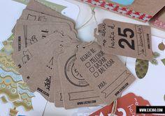Etiquetas Kraft Navidad, ideales para decorar los regalos de una manera original y perfectas para identificar los regalos.