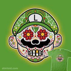"""""""Dia De Los Marios (Luigi)"""" by beware1984 ~ A Super Mario Bros / Day of the Dead mash-up"""