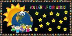Space Themed Teacher Appreciation Bulletin Board Idea