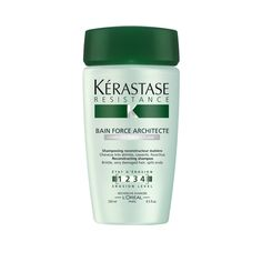 Bain Force Architecte is a shampoo that cleanses and revitalizes, leaving hair shiny and strong.