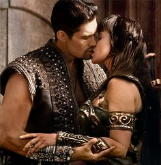 Ares & Xena aka Kevin Smith and Lucy Lawless (because I always wished it would work out with them).