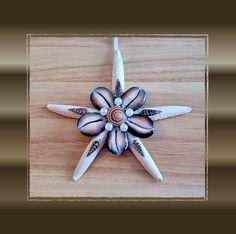 1 Handmade Lrg Arrowhead Sand Dollar Ornament
