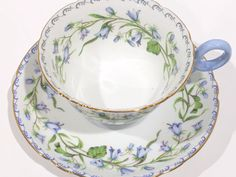 Shelley Tea Cup and Saucer Harebell Pattern Chester