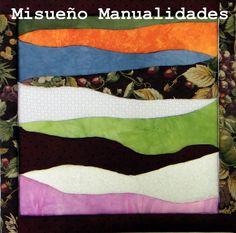 """Resultado del taller de """"Patchwork sin aguja"""". Esta creación es de P. y le ha quedado genial!!  www.misuenyo.com / www.misuenyo.es Textiles, The Creation, Mosaics, Atelier, Fabrics, Crafts, Textile Art"""