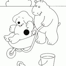 20 coloring sheets of Spot (Eric Hill)