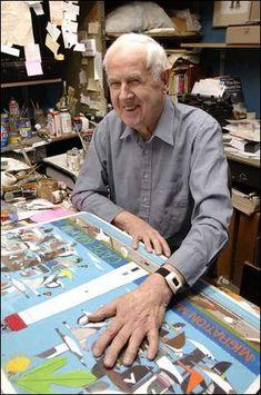Charley Harper in his studio Charley Harper, Illustrations, Illustration Art, Love Art, My Love, Photo Images, Artist At Work, Art Lessons, Art History