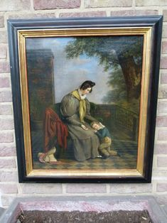 Beautiful painting of a mother with child oil on canvas in good condition. Discover more outstanding items from Johan Doomen's collection, a professional Belgian antique dealer, on Transferantique. Mother And Child, Beautiful Paintings, Oil On Canvas, Antiques, Children, Things To Sell, Instagram, Collection, Art