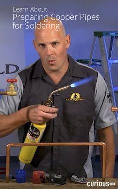 - How to Solder and Repair Copper Soldering, Plumbing, Copper, Geek, Learning, Glass, Diy, Brazing, Drinkware
