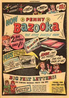 Bazooka atom bubble gum...