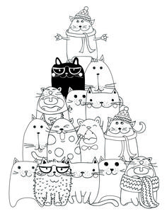drawing to print pyramid cat coloring - Les Colos de kiki - - dessin à imprimer pyramide chat coloriage drawing to print pyramid cat coloring Cat Coloring Page, Coloring Book Pages, Cat Colors, Cat Crafts, Cat Drawing, Digi Stamps, Doodle Art, Cat Art, Embroidery Patterns