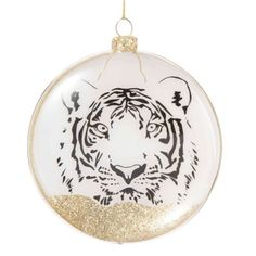 Wild Christmas tree decor | Maisons du Monde Gold End Table, Tiger, Soft Furnishings, Christmas Bulbs, Holiday Decor, Home Decor, Inspiration, Lockets, Glitter