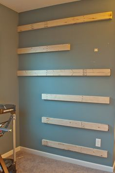 How To Build Floating Shelves Closet Ideas Pinterest Shelves - Diy build industrial hanging shelf