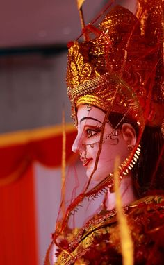 Goddess Durga (Jai Mata Di) by Sai Kiran on Maa Durga Photo, Maa Durga Image, Durga Images, Lakshmi Images, Indian Goddess, Goddess Lakshmi, Goddess Art, Navratri Puja, Durga Ji