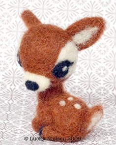 sooooo adorable! ♥ Felt Wool Doll