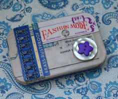 Altered Altoid tin sewing kit