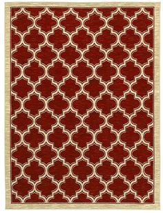 """Area rug by Shaw Floors in style """"Milazzo"""" color Red. Globally inspired styling inspiration from cultures and ports from all over the world, both ancient and modern."""