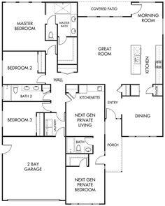 House Plans for MultiGenerational Families Duplex Great for