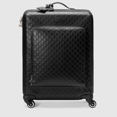 Gucci Signature Suitcase In Black Signature Luxury Luggage, Best Luggage, Carry On Luggage, Luggage Bags, Womens Luggage, Gucci Store, Travel Bags For Women, Mens Travel, Gucci Gifts