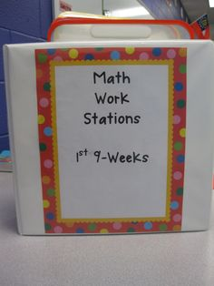 Organize Math Work Stations