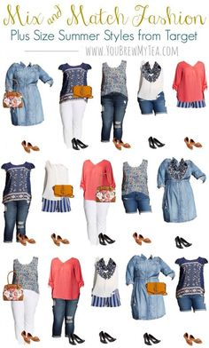 Don't miss our great list of Affordable Plus Size Fashions For Spring! Great styles to mix and match that flatter and are budget friendly! size fashion for women on a budget Affordable Plus Size Fashions For Spring Big Girl Fashion, Curvy Fashion, Look Fashion, Plus Fashion, Womens Fashion, Fashion Trends, Spring Fashion, Fashion Styles, Fashion Ideas
