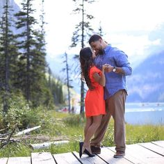 #dance #lakelouise #engagement #markderryphotography